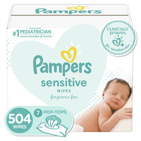 Baby Wipes Sensitive 9X Pop-Top 504 Count - image 1 of 8