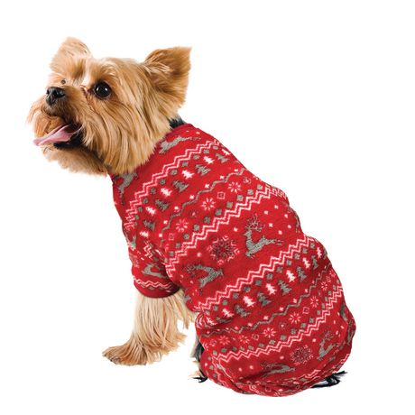 Christmas Pajamas For Dog.Christmas Reindeer Dog Pajamas Walmart Canada