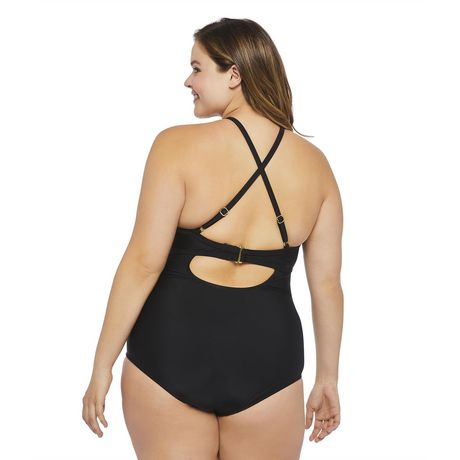 George Plus Women's Strappy 1-Piece Swimsuit - image 3 of 6