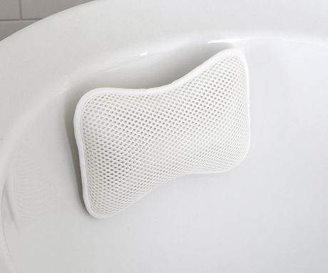 splash home cozy non slip bath pillow, 11 x 2.5 x 8, white<br