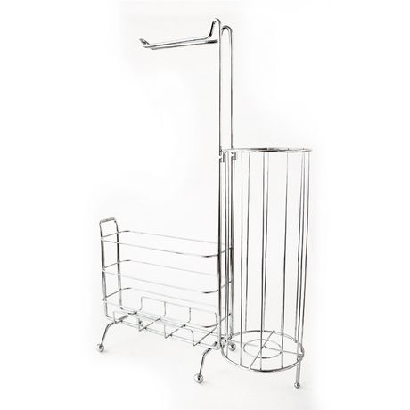 Splash Home Free Standing Toilet Paper Holder Plus A