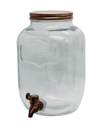 Distributeur jarre Mason avec un couvercle en cuivre de Brilliant, 4 l - image 3 de 3