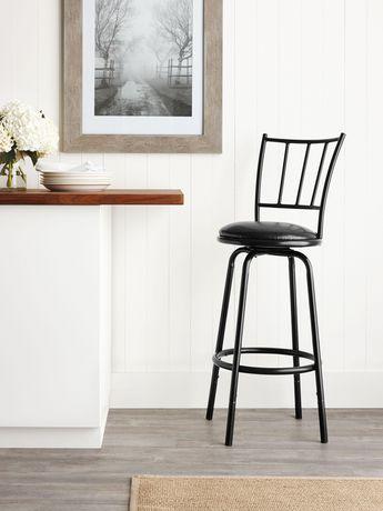hometrends Black Swivel Barstool - image 1 of 2