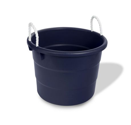Your Zone 37.85 Litre Plastic Storage Tub With Rope Handles | Walmart Canada