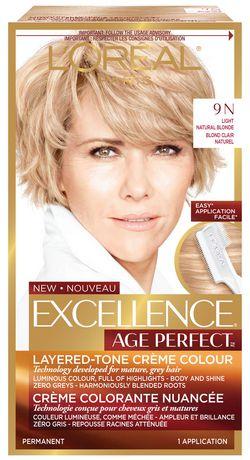 loral paris excellence age perfect coloration blond clair dor doux 9g - L Oreal Coloration Blond