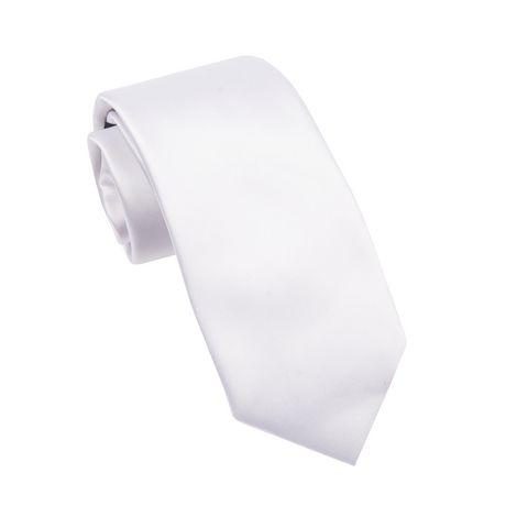 Cravate en satin à couleur unie pour hommes George - image 1 de 1