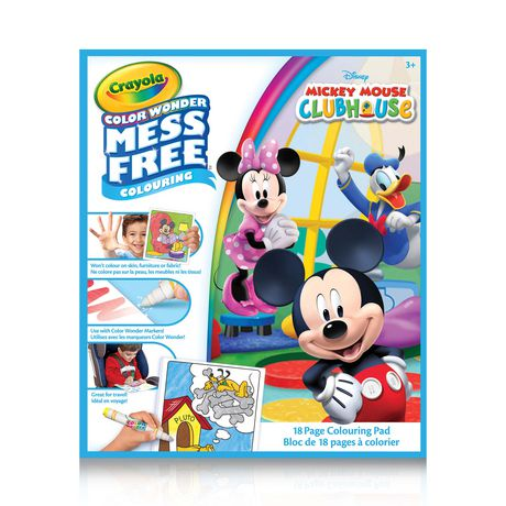 Crayola Color Wonder Mickey Mouse Clubhouse Mess Free Colouring Pad - image 1 of 2