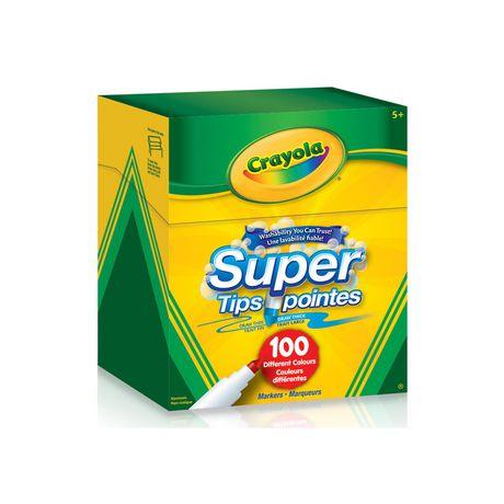 Marqueurs Super pointes lavables, 100 ct Crayola - image 1 de 2