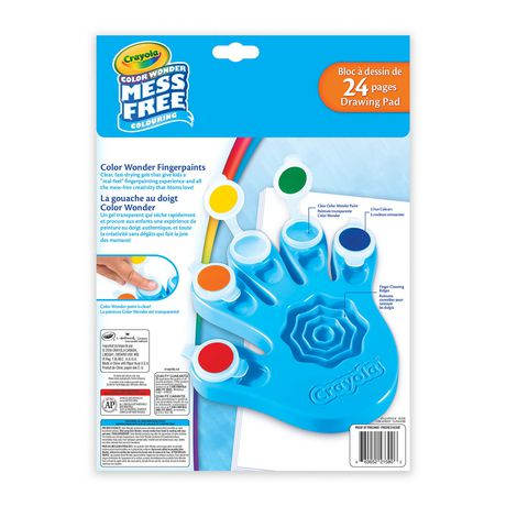 Crayola Color Wonder Fingerpaint Paper Set