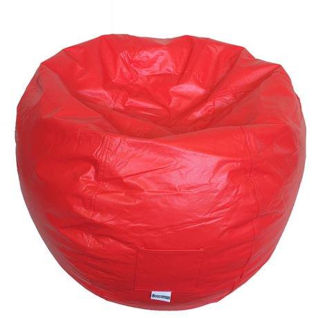Boscoman Adult Round Vinyl Beanbag Chair