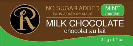 Barre de chocolat au lait et à la menthe sans sucre ajouté de Ross Chocolates - image 1 de 2
