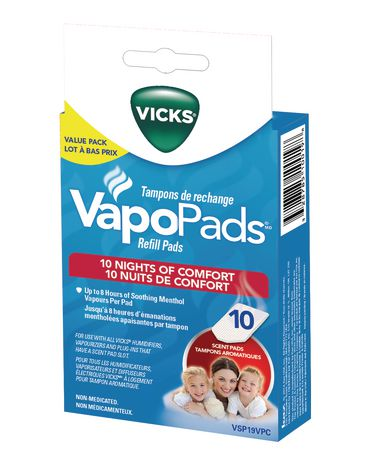 Vicks Vapopads Refill Pads Value Pack, Pack of 10 Scent Pads - image 1 of 2