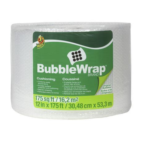 Duck Brand Original Clear Bubble Wrap Cushioning - image 1 of 2