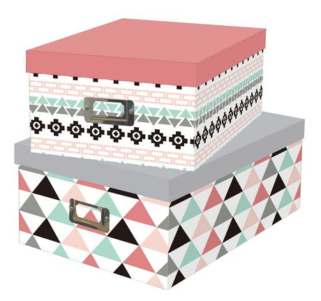 btc trends cardboard collector storage boxes with lids walmart canada. Black Bedroom Furniture Sets. Home Design Ideas