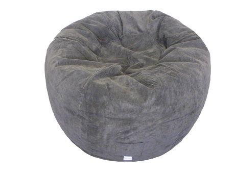 Boscoman Jumbo Chocolate Corduroy Round Beanbag Chair