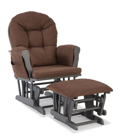 Storkcraft comfort glider and ottoman gray finish for Stork craft glider reviews