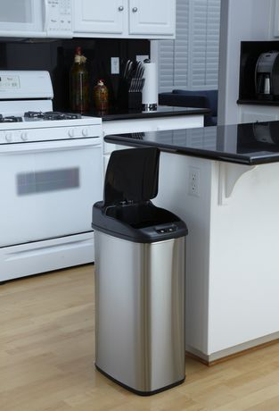 Nine Stars Motion Sensor Slim Touchless 13.2-Gallon Trash Can - image 2 of 3