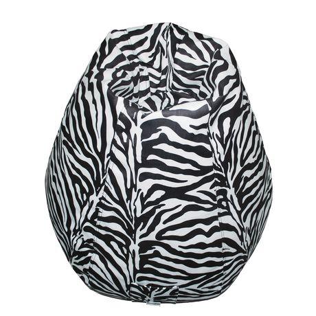 Boscoman Pear Shaped Zebra Print Beanbag Chair Walmart