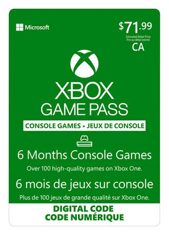 6 Month Xbox Game Pass Digital Download