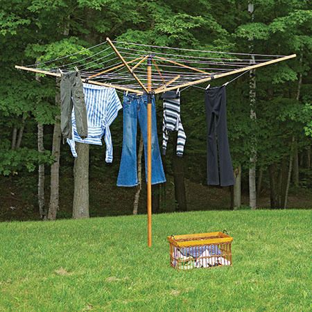 greenway large outdoor bamboo rotary clothesline walmart canada. Black Bedroom Furniture Sets. Home Design Ideas