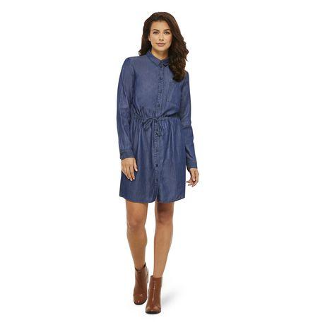 George Women's Denim Shirt Dress - image 1 of 6