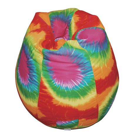 Charmant Boscoman Pear Shaped Red Rainbow Tie Dye Beanbag Chair
