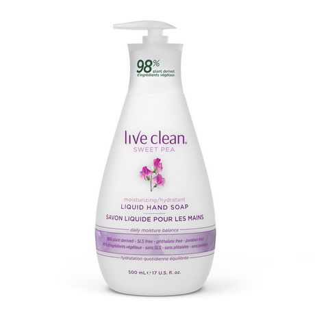 Live Clean Sweet Pea Liquid Hand Soap - image 1 of 2