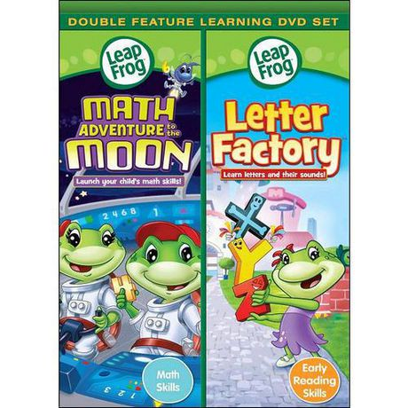 leap frog letter factory pre reading math circus dvds leapfrog feature math adventure to the moon 464