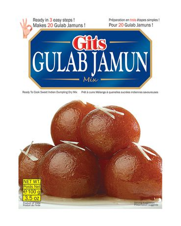 Mélange instantané indien Gulab Jamun de Gits - image 1 de 2