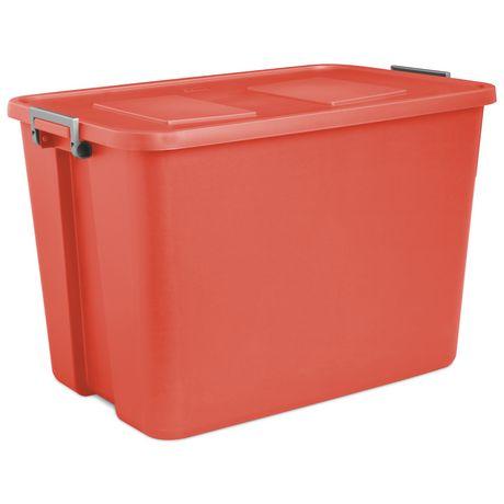 Sterilite 121 Liter Orange Latch Tote Walmart Canada