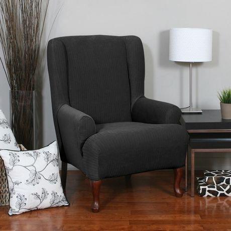 housse extensible pour fauteuil oreilles spencer de sure fit. Black Bedroom Furniture Sets. Home Design Ideas
