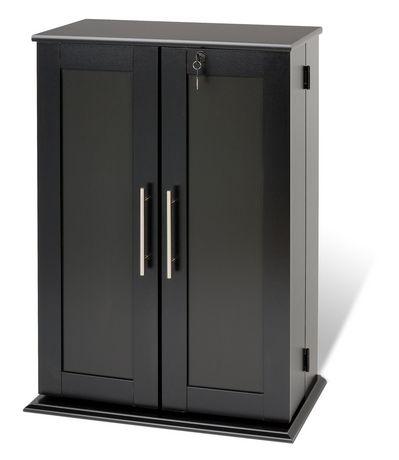 Locking Media Storage Cabinet With Shaker Doors Black Walmart Canada