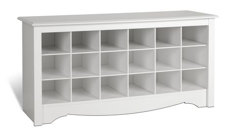 Shoe Storage Cubbie Bench White - image 1 of 4