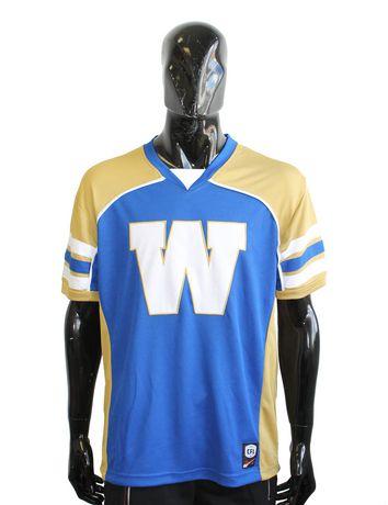 T-shirt en polyester Blue Bombers de Winnipeg de la LCF pour hommes à manches courtes - image 1 de 1