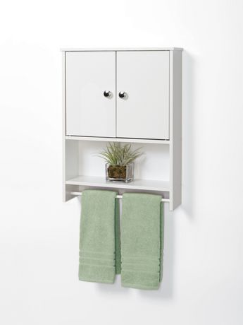 Mainstays White Wood 2-Door Wall Cabinet | Walmart Canada