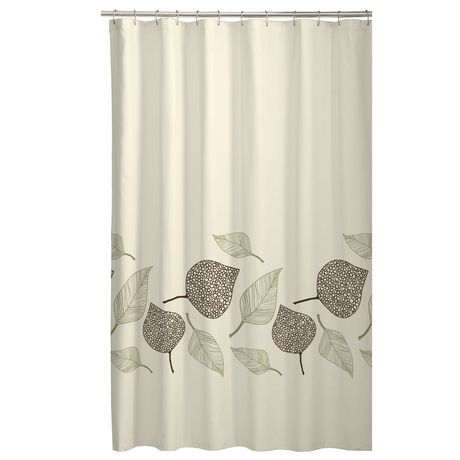 Fossil Leaf Fabric Shower Curtain