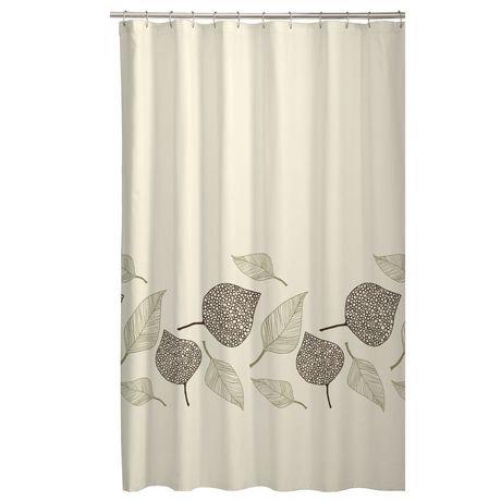Fossil Leaf Fabric Shower Curtain | Walmart Canada