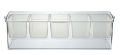 Prodyne Clear Acrylic Condiments on Ice Tray - image 1 of 1