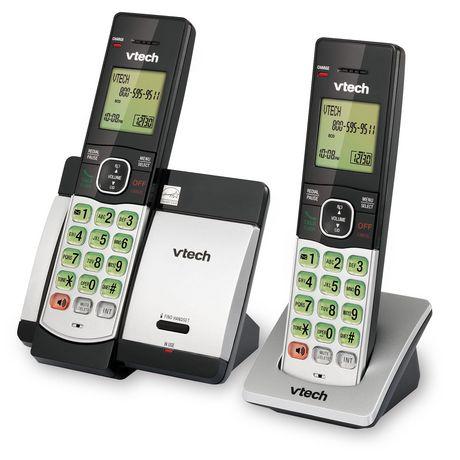 Système téléphonique CS5119-2 DECT 6.0 de Vtech sans fil extensible avec 2 combinés - image 3 de 3