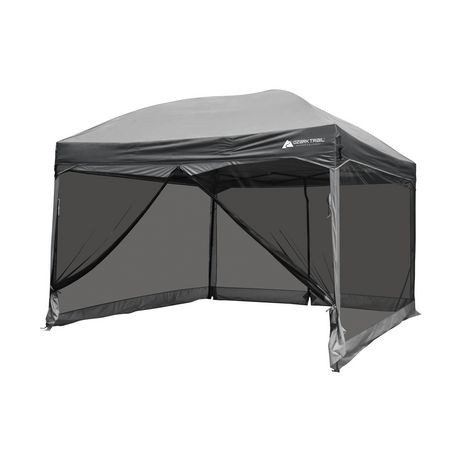 Ozark Trail 11 X Straight Wall Instant Canopy With Full Mesh Curtain
