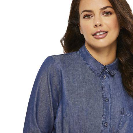 George Women's Denim Shirt Dress - image 4 of 6