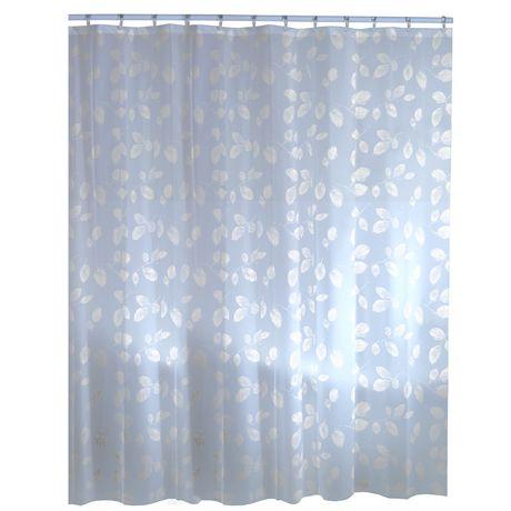 Mainstays Leaf PEVA Shower Curtain