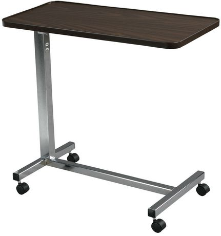 Attrayant Table De Lit à Plateau Non Inclinable Chrome De Drive Medcial