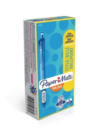 Stylos à bille rétractable à pointe moyenne InkJoy 300RT de Paper Mate en bleu - image 1 de 1
