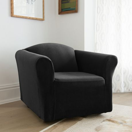Sure Fit Stretch Velvet Chair Slipcover Walmart Canada