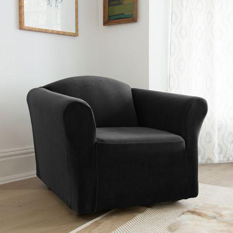 Housse extensible pour fauteuil de sure fit en velours for Housse panier epicerie