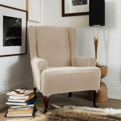 housse extensible pour fauteuil oreilles de sure fit en. Black Bedroom Furniture Sets. Home Design Ideas