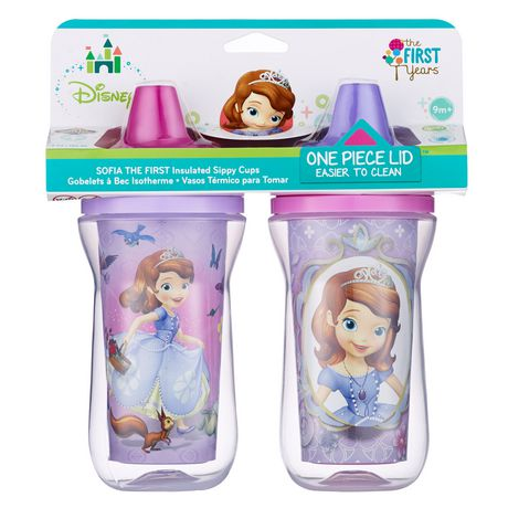 The First Years  Sophia The First Insulated Sippy Cups 9 Oz 2 Pack - image 1 of 1