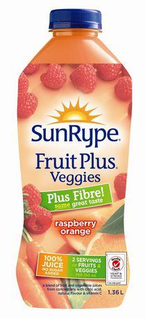 SunRype Fruit Plus - L'égumes Plus - Fibre framboise orange - image 1 de 2