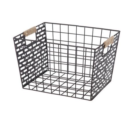 Superbe Hometrends Brown Metal Basket